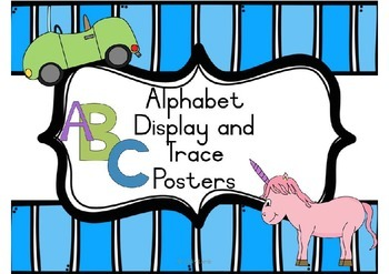 Alphabet Display and Trace Posters