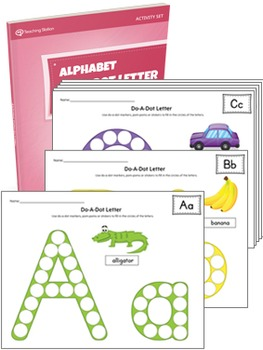 Alphabet Do-A-Dot Letter Activity Set {COLOR+BW}