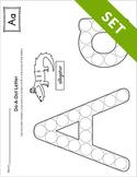 Alphabet Do-A-Dot Letter Activity Set {BW}