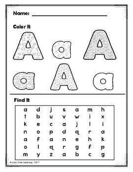 Alphabet Do It! Trace, Write, Color, Find, Cut and Glue It!