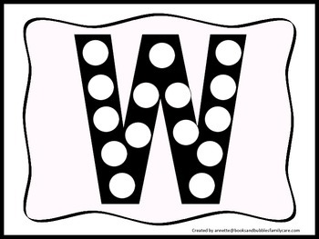 photograph about Letter W Printable called Alphabet Do a Dot higher scenario letter \