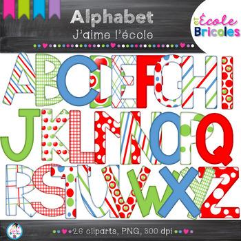 Alphabet-Docudéco J'aime l'école/I love school alphabet