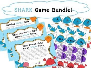 Alphabet & Dolch Word Shark Games Bundle