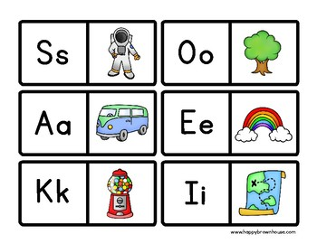 Alphabet Beginning Sound Dominoes