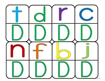 Alphabet Dominoes: Uppercase and Lowercase Matching (Spanish)