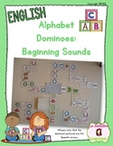 Alphabet Dominoes: Letter and Beginning Sound Matching (English)