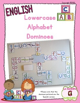 Alphabet Dominoes: Lowercase Letter Match (English)