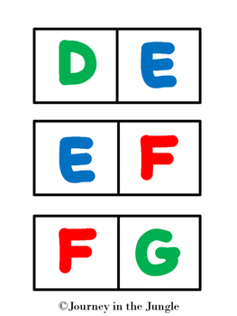 Alphabet Dominoes (uppercase)