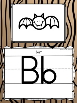 Alphabet Doodle Posters in a Camping Classroom Decor Theme