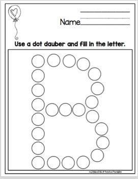 Alphabet Dot Dauber Practice