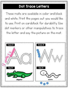 Alphabet Dot Marker Trace Mats