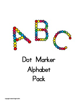 Alphabet Dot Markers Packet