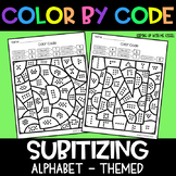 Alphabet Subitizing | No Prep Color By Number Activities
