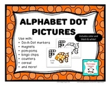 Alphabet Dot Pictures {Color and B&W}