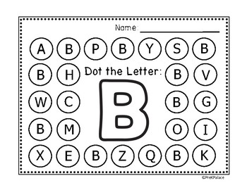 Alphabet Dot The Letter
