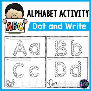 Alphabet Worksheets - Dot the letters