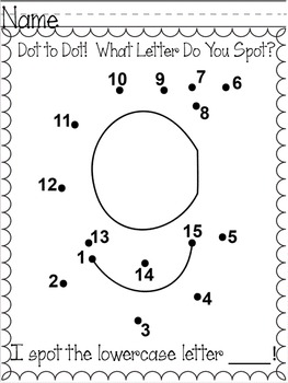 Alphabet Dot to Dot Printables