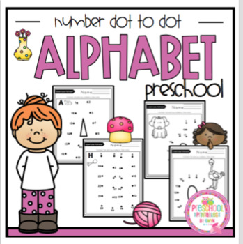 "Alphabet Dot to Dot Upper and Lowercase ""No Prep"""