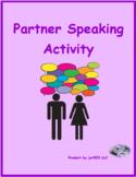Alphabet Dot to Dot Partner speaking activity