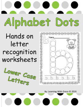 Alphabet Dots - Lower Case Letters