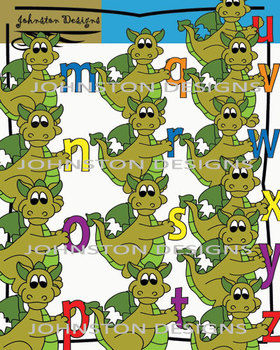 Alphabet Dragons (Lowercase Letters)