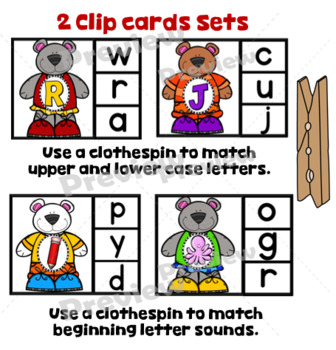 Alphabet Dress Up Bear Activity Learning Centers