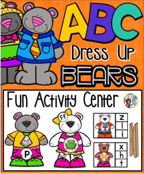 Alphabet Dress Up Bear Activity Learning Centers