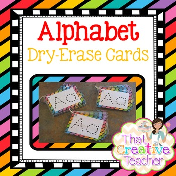 Alphabet Dry-Ease Cards