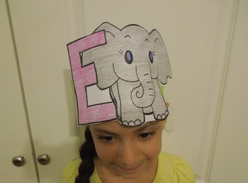 "Alphabet ""E is for elefante"" Spanish Hat Patterns (5 versions)"