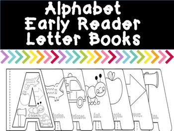 Alphabet Early Reader Coloring Letter Books