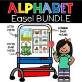 Alphabet Easel Bundle Phonics Posters Beginning Sound Pict
