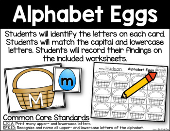 Alphabet Eggs - Letter Identification and Matching