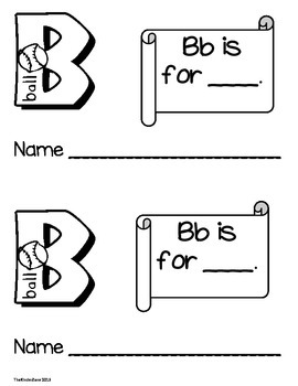 Alphabet Emergent Reader Book ** Complete 26 Book Set!