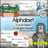 Alphabet  Letters Emergent Readers Cut and Paste Alphabet Activities Readers