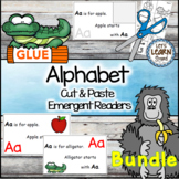 Alphabet  Letters Emergent Readers Cut and Paste Alphabet Activities Readers