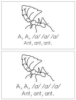 Alphabet Books - Letter Sounds Emergent Reader - A (short)