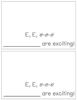 Alphabet Books - Letter Sounds Emergent Reader - E (short)