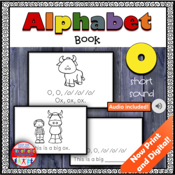 Alphabet Books - Letter Sounds Emergent Reader - O (short)