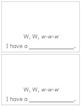 Alphabet Books - Letter Sounds Emergent Reader - W