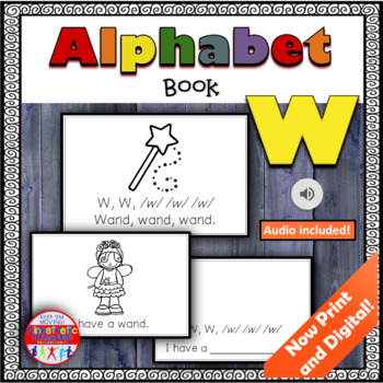 Alphabet Books - Letter Sounds Emergent Reader - W