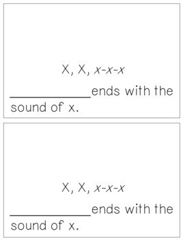 Alphabet Books - Letter Sounds Emergent Reader - X