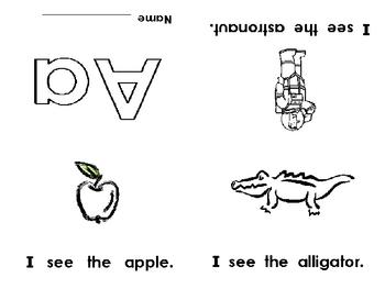 Alphabet Emergent Reader Foldable Little Books