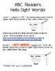 Alphabet Emergent Reader Growing Bundle - Hello Sight Words!