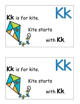 Letter K Alphabet Emergent Reader and Cut and Paste Alphabet Activities Reader