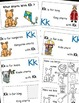Letter K Alphabet Emergent Reader and Cut and Paste Alphab