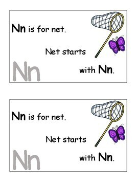 Letter N Alphabet Emergent Reader and Cut and Paste Activities Reader