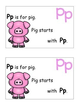 Letter P Alphabet Emergent Reader and Cut and Paste Activities Reader