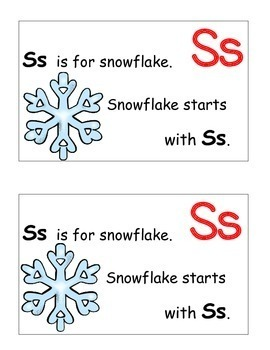 Letter S Alphabet Emergent Reader and Cut and Paste Activities Reader