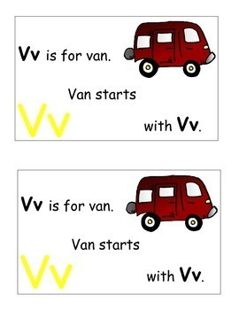 Letter V Alphabet Emergent Reader and Cut and Paste Activities Reader