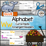Letter W Alphabet Emergent Reader and Cut and Paste Activities Reader